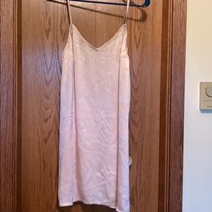 Billabong light pink slip dress